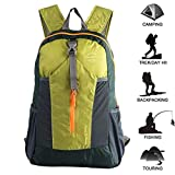 Ultra Lightweight Packable Water Resistant Travel Hiking Backpack Handy Foldable Daypack 20L