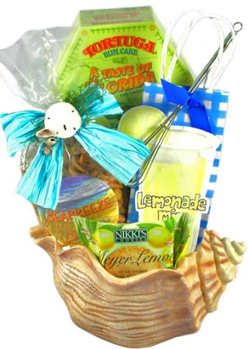 Seashell Gourmet Snack Food Basket - Great Birthday, Housewarming or Thank You Gift Idea