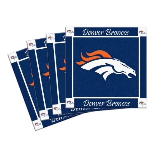 NFL Denver Broncos 4-Pack Ceramic Coasters