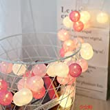 Mode 5, 2M (10 leds) : 3M Led Cotton Ball Lights Macaron String Lights Battery Powered Fairy Lamp Thai Garden Party Wedding Home Decor Holiday Lighting