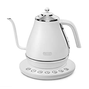 """Delonghi Temperature Setting Function Electric Cafe Kettle""""icona"""" KBOE1230J-W (Peaceful White)【Japan Domestic Genuine Products】【Ships from Japan】"""