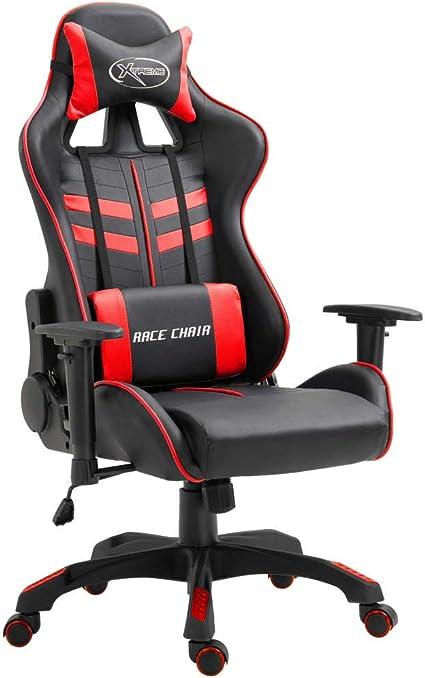 Chaise Rot VidaXL und de bureau Schwarz ordinateur pour uFTK13clJ