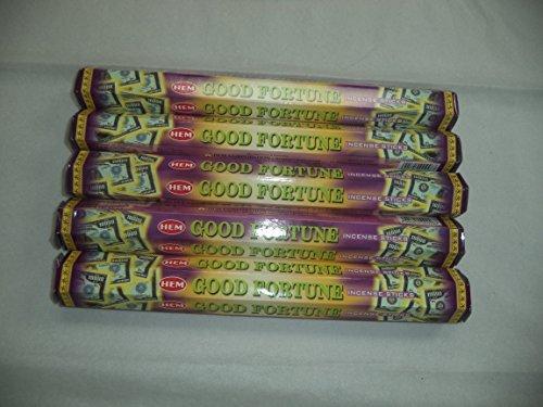六千成功するHem Good Fortune 100 Incense Sticks (5 x 20スティックパック) by裾