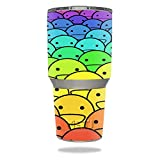 MightySkins Protective Vinyl Skin Decal for YETI 30 oz Rambler Tumbler wrap Cover Sticker Skins Happy Faces
