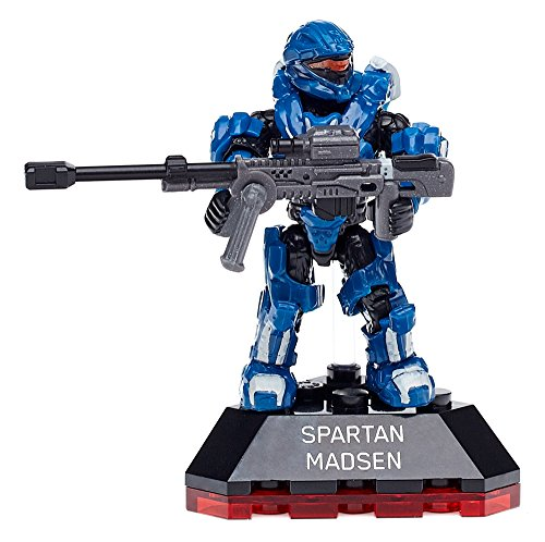 Mega Construx Halo Heroes Series 4 Spartan Madsen Figure (Halo 4 Best Weapon)