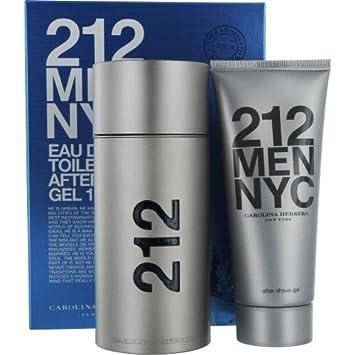 08afa0a71 Amazon.com : Carolina Herrera 212 For Men 2 Piece Gift Set, 3.4 Ounce :  Fragrance Sets : Beauty