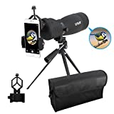 ESSLNB Waterproof Spotting Scope 25-75X70mm with Tripod Phone Adapter and Bag BAK4 Porro Prism Straight Target Scope for Target Shooting Bird Watching Hunting