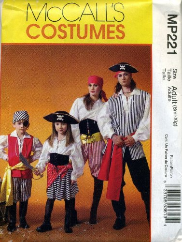 McCall's Costumes Pirate Sewing Pattern MP221