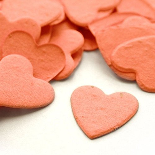 Heart Shaped Plantable Seed Confetti (Coral) - 350 pieces/bag