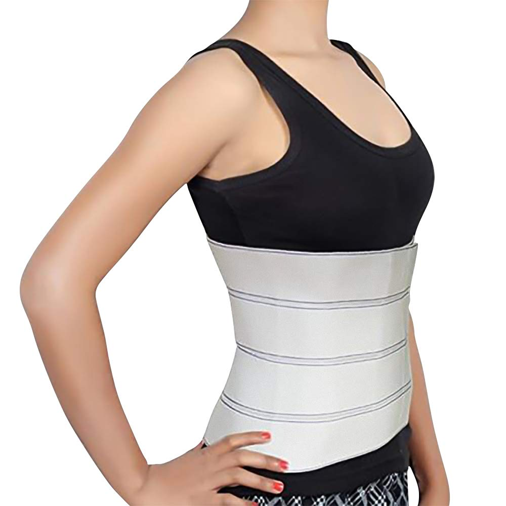Abdominal Binder Support Post-Operative, Post Pregnancy and Abdominal Injuries. Post-Surgical Abdominal Binder Comfort Belly Binder (Medium (46'' - 62''), 15'' High) by Trademark Supplies