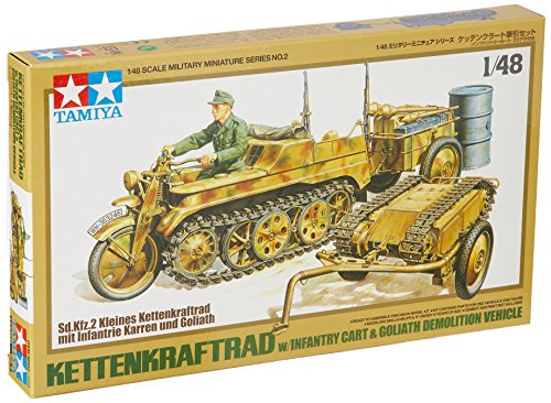 Tamiya 300032502 1: 48 WWII German Motorcycle with Chain