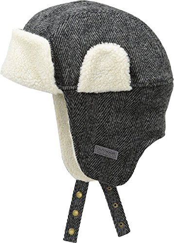 Outdoor Research Baltic Trapper Hat, Charcoal Herringbone, Large