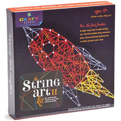 Craft-tastic String Art Kit II - Craft Kit Makes 3 Large String Art Canvases (Art String)