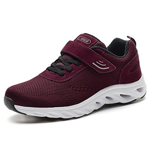 Hasag Señoras del Verano Deslizan Las Zapatillas de Deporte Respirables de Las Zapatillas de Deporte de la Parte Inferior Suave de la Madre Calzan los Zapatos Red dates