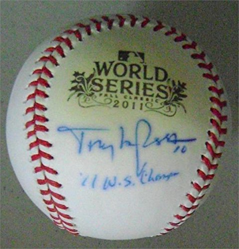 Signed Tony La Russa Baseball - LaRussa 2011 World Series inscribed 11 WS Champs discounted for poor condition Autograph Warehouse