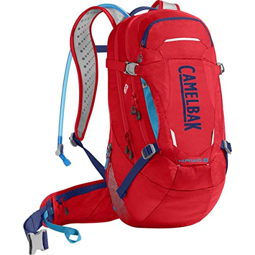 CamelBak H.A.W.G. LR Crux Lumbar Reservoir Hydration Pack, Racing Red/Pitch Blue, 3 L/100 oz