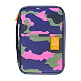 P.travel Multifunctional Travel Wallet Family Passport and Tablet Holder Documnets Organizer (Como Pink)
