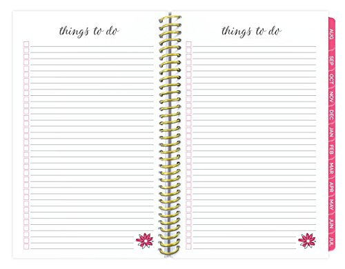 bloom daily planners 2017-18 Academic Year Daily Planner - Passion/Goal Organizer - Monthly and Weekly Datebook and Calendar - August 2017 - July 2018 - 6