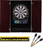 Viper Metropolitan Collection Mahogany Cabinet with the 777 Electronic Dartboard and Throw Line Set