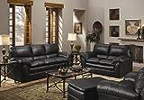 Living Room Furniture Best Deals - GTU Furniture New Faux Leather Sofa and Loveseat Living Room Furniture Set (Black)