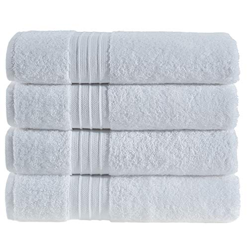 Hammam Linen Ultra Soft Turkish Bath Towels - (27 x 52 inches) - Towel Set - 100% Cotton Towels (White)