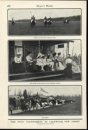 Polo Tournament Lakewood New Jersey Wealthy Athletes 1901 antique historic - Tournament Jersey Polo