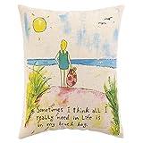 Best DS Bath Pillows - 1 Piece 18 X 14 Blue Yellow Beach Review