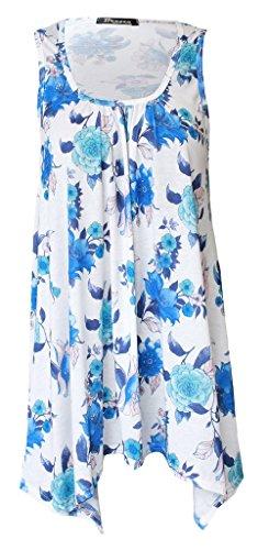 empire Bleu Boutique Chemisier floral Motif Taille Femme Hx7x8Cn