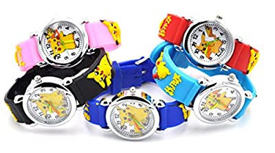 Hot Selling Pokemon Style Watch 3D Silicone Wristwatches Gift Set for Girls Boy Kids Children from Payto