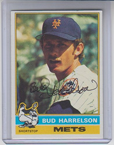 1976 Topps Autographed Baseball Card (Bud Harrelson Autographed 1976 Topps #337 Baseball Card Certified by The Sports Page)