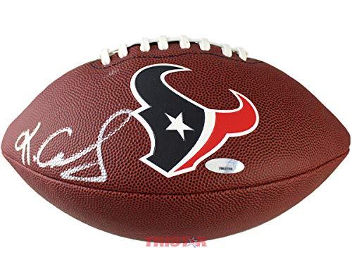 - Keke Coutee Signed Autographed Houston Texans Logo Football TRISTAR COA