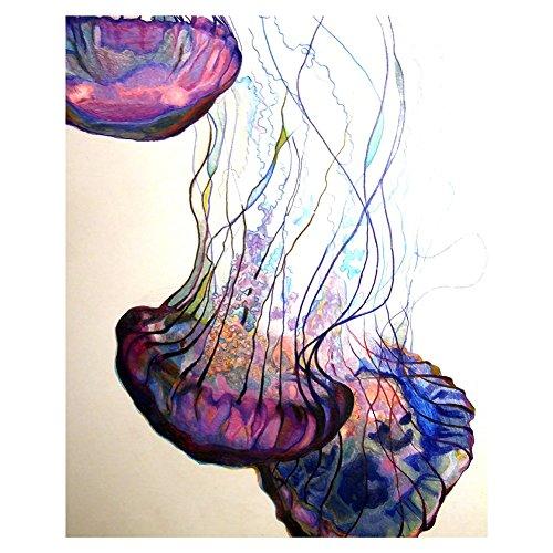 millet16zjh - Cuadro de Pared, diseño de Medusas de gelatina, para salón, recámara, decoración del hogar, Bricolaje,...