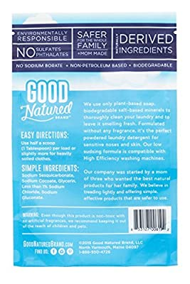 Good Natured Brand the Best All-Natural Eco-friendly Fragrance Free Laundry Soda Detergent 48 loads 30 oz.