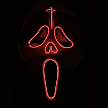 Máscara de Halloween Brillante/EL Cold Light Halloween Black V ...