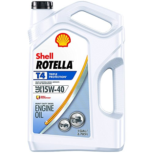 Shell ROTELLA T4 Triple Protection 15W-40 Diesel Oil, Heavy Duty Engine Oil (Formerly Shell ROTELLA T), 1 Gallon