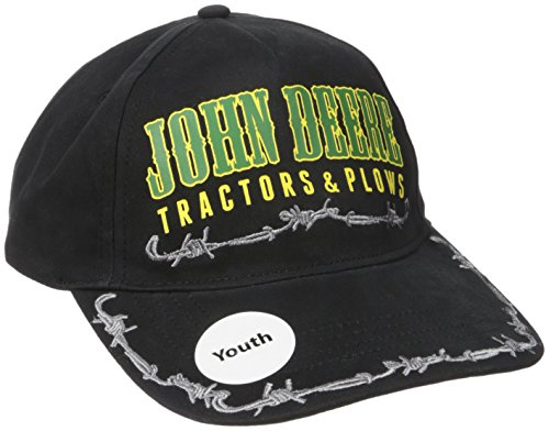 John Deere Big Boys' Tractors and Plows Baseball Cap, Black, One Size John Deere Youth Cap