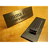 Custom Engraved 1x3 Brushed Bronze Name Tag | Badge With Magnetic Closure | Employee Identification Plate Magnet Sign Personalized