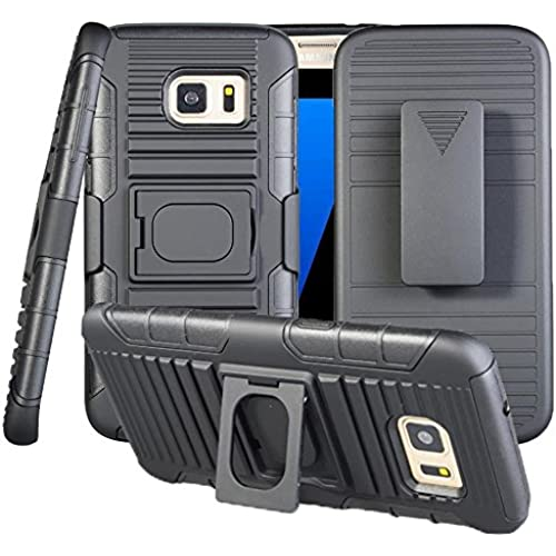 Galaxy S7 Case, CaseUp Three Layer Holster Series - [Shockproof][Drop Protection][Kickstand] Hybrid Defender Case Cover with Stand + Belt Clip Holster For Samsung Sales