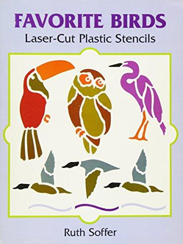 Favorite Birds Laser-Cut Plastic Stencils (Dover -