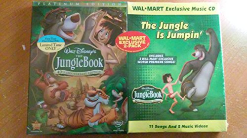 Disney Jungle Book 40th Anniversary Platinum Edition DVD Gift Set - Includes Exclusive Music CD - Wal-mart Exclusive ()