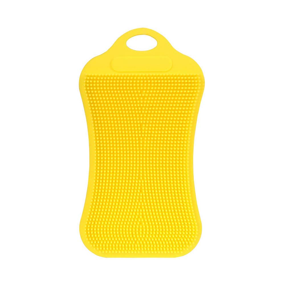 1Pcs Silicone Cleaning Antibacterial Tool,Creative Kitchen Peeled Cucumber Potato Accessories (Yellow)