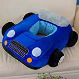 3D Navy Plush Sofa Chair Car Toy Cartoon Kids Baby Car Boy Girl Toddlers Gift Sitting-learn Chair Children's Day Festival Birthday Presents for Mom Soft Touch Cute Look Under Age 4