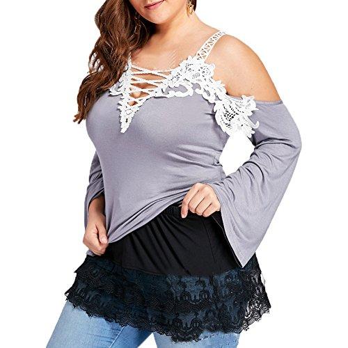 Moshow Chemise  col en V T-shirt  paules dnudes tops dcontracts robe de base de jupe de dentelle sous-vtements jupe Noir Jupe