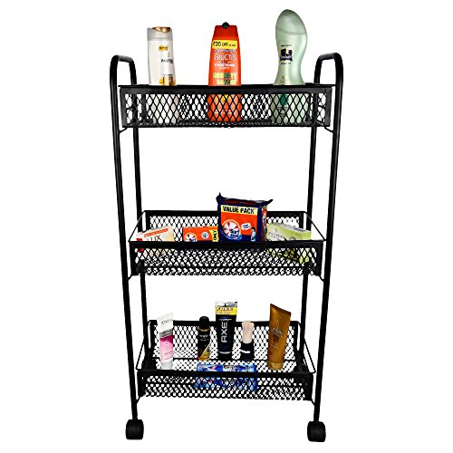 Magna Antique Look Home Storage Trolley-Black With Warranty (Complete Home Storage Solution)