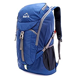 Venture Pal 50L Large Hiking Backpack - Durable Packable Lightweight Travel Bagpack Daypack for Women Men (Navy)