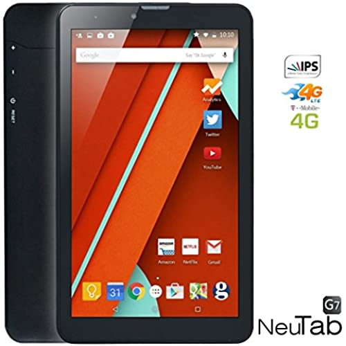 NeuTab G7 7 inch Unlocked GSM 4G Quad Core Tablet Google Android 5.1 Lollipop OS IPS HD Display Dual Sim Slot Coupons