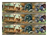 Wildlife cake Edible Icing Image border strips (3 Strips)