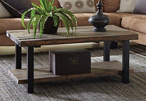 Farmhouse Coffee Tables Alaterre Sonoma Rustic Natural Coffee Table, 42″, Brown farmhouse coffee tables