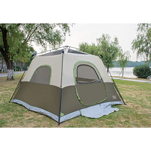 Amazon.com  Timber Ridge 6-Person Family C&ing Tent Instant Cabin With Rainfly for Outdoor 10x10 feet  Sports u0026 Outdoors  sc 1 st  Amazon.com & Amazon.com : Timber Ridge 6-Person Family Camping Tent Instant ...