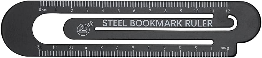 Metall Papierklammer Messwerkzeug schwarz Lineal Lineal Schwarz//Wei/ß 12 cm Lesezeichen f/ür Kinder Zeichnung